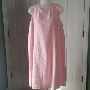 J. Jill Love Linen light pink sleeveless dress